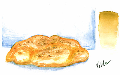 Another water color study. Didn't work out so well, but it's supposed to be bread.