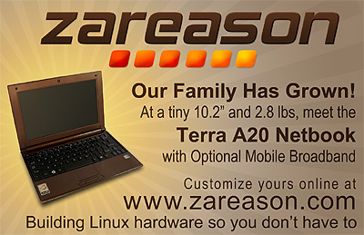 Small ad announcing the Terra A20 Netbook