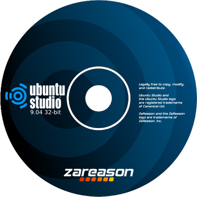 Ubuntu Studio CD Label design
