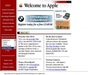 Apple.com in 1997