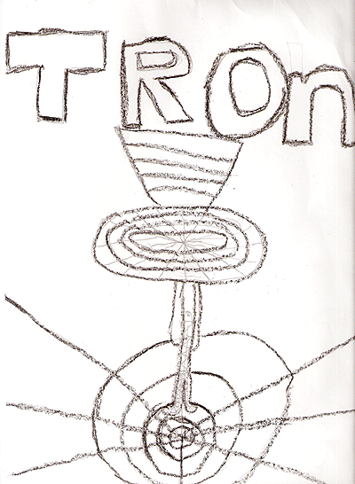 A cute hand-drawn Tron poster