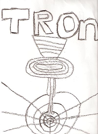 A cute hand-drawn Tron poster