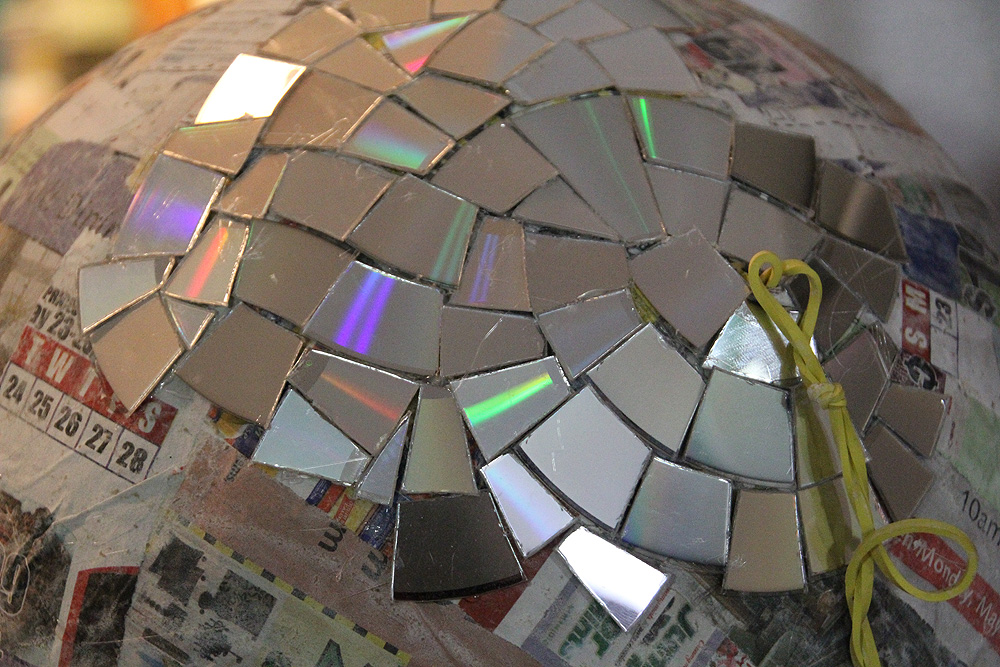 home made disco ball
