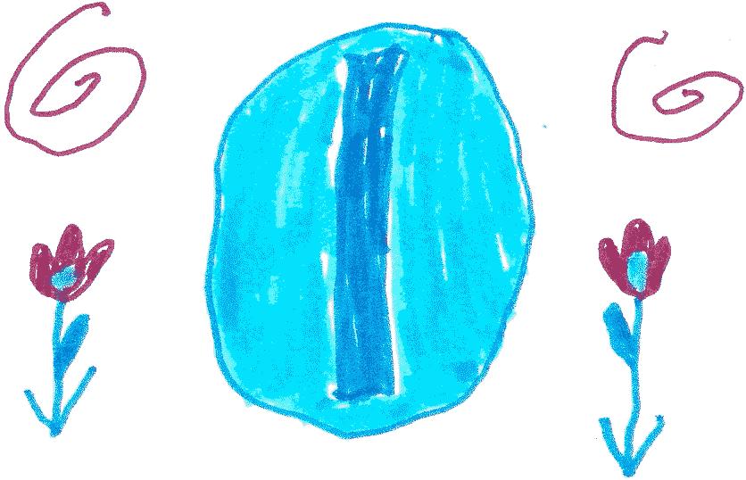 A blue coin