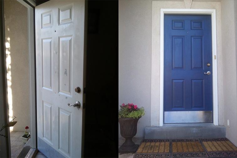 dented door repaired