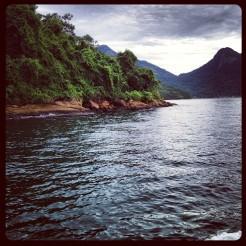 Floating around the island