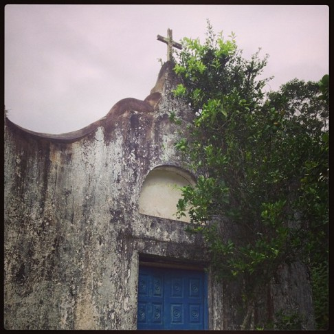 An old abandoned church in the middle of the jungle