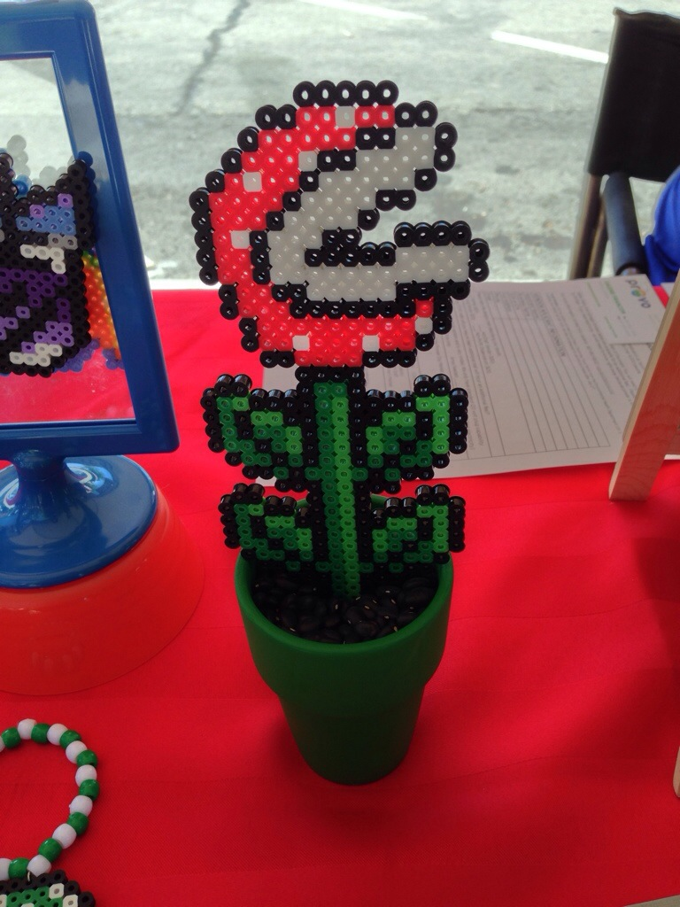 Piranha plant made from fusible beads