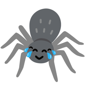 Spider smiling with tears